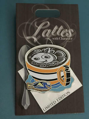Disney Parks  LATTE with Character Pin  Finding NEMO  LE 3000   NEW
