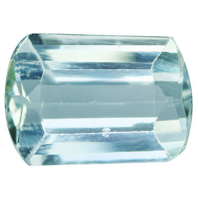 2.36Ct IF Splendid Cushion Cut 10 x 7 mm 100% Natural Top Luster Aquamarine