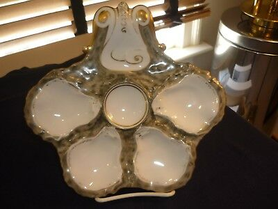 Haviland Boteler Style Oyster Plate/dish/server Beautiful Colors