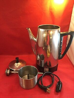 Presto Pride Electric Percolator Coffee Pot 12 Cup Stainless Steel