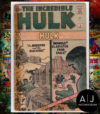 The Incredible Hulk #4 (S Marvel N) LOW GRADE! HIGH RES SCANS!