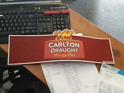 carlton draught beer rubber dimpled bar mat