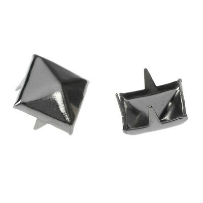 2X(50 Pyramid Square Nailhead Studs Spike Tacks --- Great for DIY Crafts T8Z8)