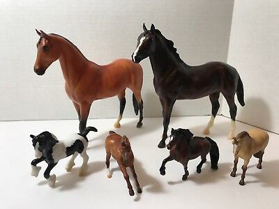 "Lot of 6 Breyer Reeves Horses Large 7"" and Small 3"" Horse"
