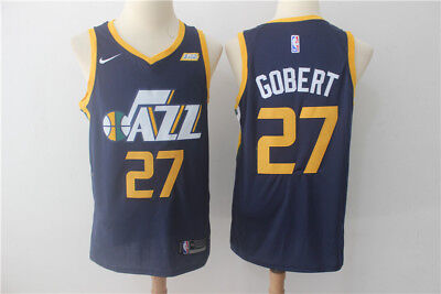 ad3c37abcc1c3 MEN'S UTAH JAZZ #27 Rudy Gobert New Basketball Blue Stitched Jersey