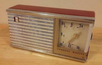 Channel Master Red Transistor Radio Plays Nicely!