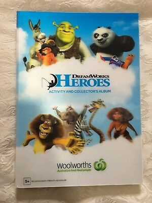 Woolworths Dreamworks Heroes Activity & Collector's Album + Full Set Of Cards