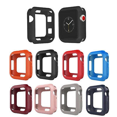 Soft Silicone Bumper Skin Case Cover For Apple Watch Series 4 40mm/44mm