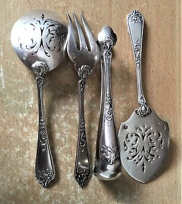 Charming High Purity 950 French Silver   Cutlery Mini Set