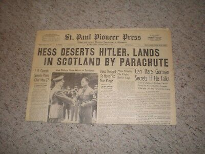 Wwii Newspaper - Hess To England