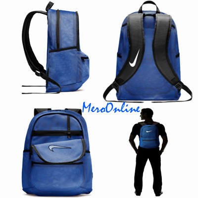 e405f9015f 🆕🔥COOL Nike Brasilia Mesh Backpack Transparent School Gym Bag Blue  BA5388-480