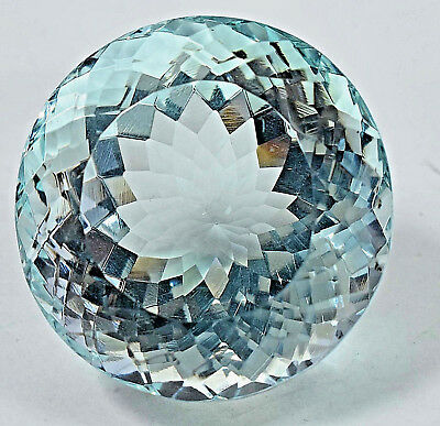 145.70 Ct NATURAL Blueish Green AQUAMARINE Loose Round GEMSTONE AGSL Certified