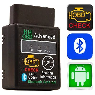 VW 2 OBD2 Bluetooth Android Handy ELM327 KFZ Interface Diagnose Scanner Adapter