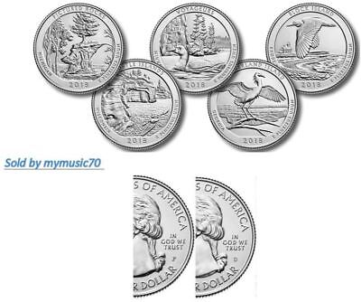 2018 P&D National Park Quarters - Complete 10 Quarters P&D **on hand**