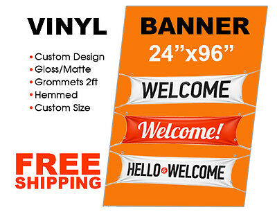 2'x 8' Custom Vinyl Banner High Quality Full Color 13oz Vinyl - Creator Print