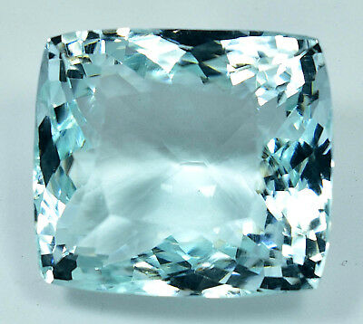 142.70 Ct NATURAL Blueish Green AQUAMARINE Loose Cushion GEMSTONE AGSL Certified