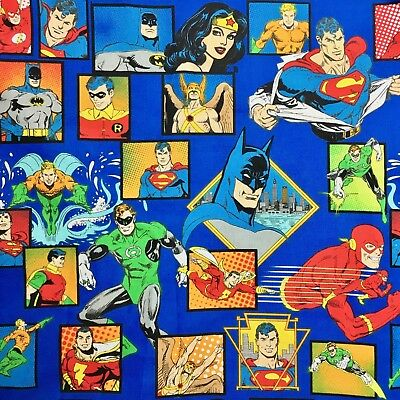 Sewing Quilting Fabric Disney Marvel Comics Superman Wonder Woman Batman New FQ