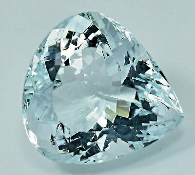 49.60 Ct NATURAL Blueish Green AQUAMARINE Loose Pear GEMSTONE AGSL Certified