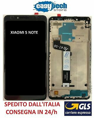 Touch Screen  LCD Display ORIGINALE con Frame Per XiaoMi Redmi 5 NOTE Nero
