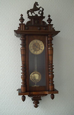 Antique Vienna Regulator Style Wall Clock Spring Driven By Friedrich Mauthe