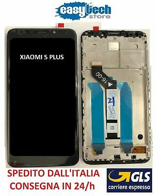 Touch Screen  LCD Display Vetro con Frame Per XiaoMi Redmi 5 PLUS Nero