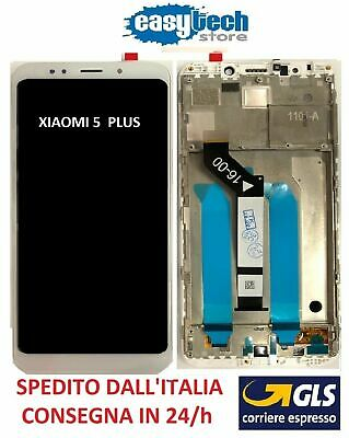 Touch Screen  LCD Display ORIGINALE con Frame Per XiaoMi Redmi 5 PLUS Bianco