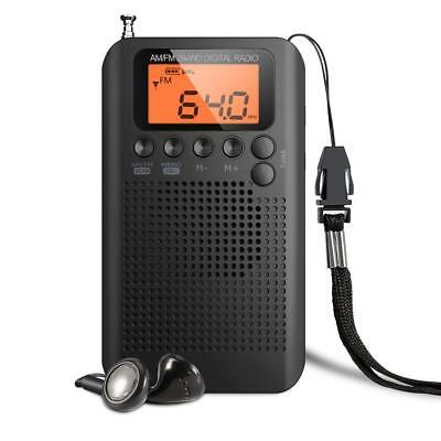 Portable AM FM Radio Digital Tuning Personal Stereo Radio Battery Operated Radio