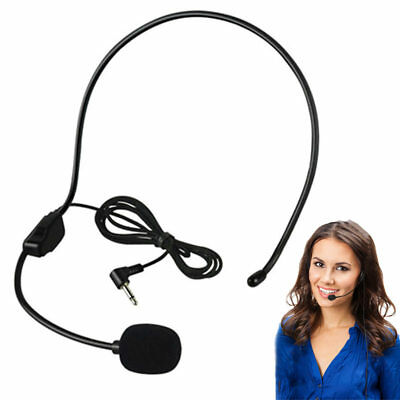 3.5MM Wired Microphone Headset  Conference Guide Speech Speaker Stand Headphone