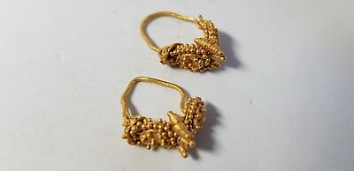 Greek Elaborate Gold Earring Pair. 4th-1st century BC