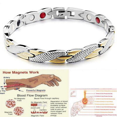 Unisex Magnetic Bracelet Therapy Relief Arthritis Pain Healing Bangle Tunnel