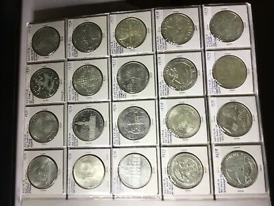 21x100 Schilling Silver coins from AUSTRIA 1975-1979 UNC (Two proof)