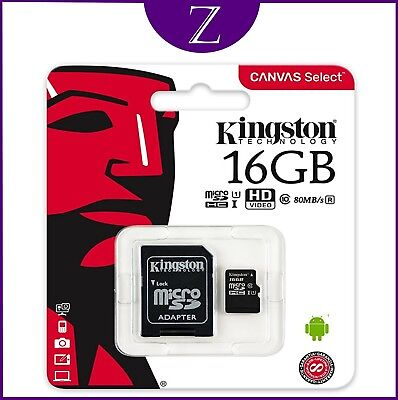 16Gb Kingston Micro Sd Uhs-I Class 10 Flash Card With Adapter For Phones Camera