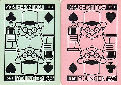 """Pair of WIDE RARE VINTAGE """"Youngers British Brewery"""" SINGLE Playing Cards"""