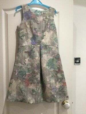 Bnwot Girls Mint Green & Pastels Floral Party/special Event Dress Next Age 12 Yr