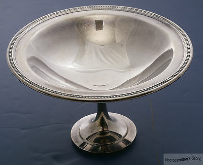 Oneida Silver Plated Vintage Round Pedestal Bowl, Good Condition (#2161)