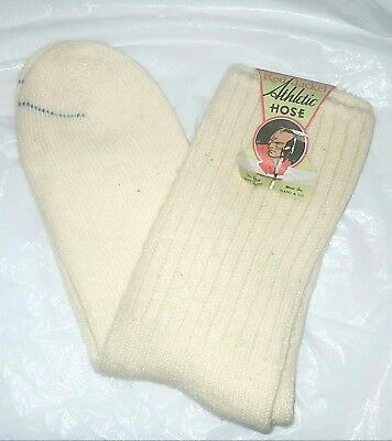 Mens Antique Wool Socks With Label