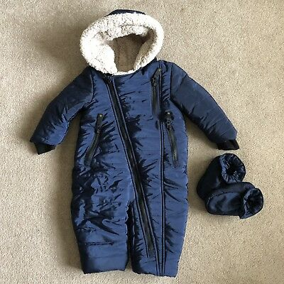 Baby Boy Winter / Snow Suit All In One Mothercare 9-12 Months