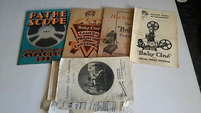 """Vintage Projector Catalogues/instructions """"pathe Scope/baby Cine"""" 1928-33"""