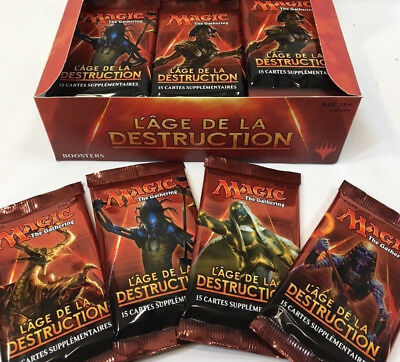 MTG MAGIC Lot de 5 BOOSTERS AGE DE LA DESTRUCTION FRANCAIS Neuf (nicol bolas)