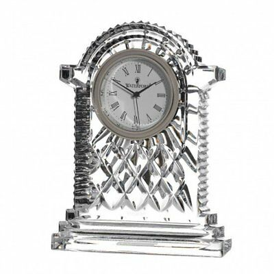 Waterford Crystal : Lismore Carriage Clock  Height 17.5 cm