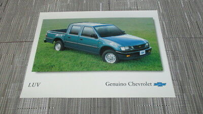 1998 Chevrolet Luv Cabina Dobla 2 Sided Brochure Sheet From Venezuela.