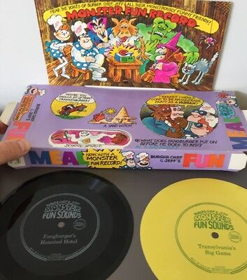 Burger Chef Fun Meal Monster Fun Record Tray With Two Records
