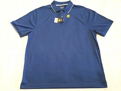 New Claiborne Mens Blue Polo Shirt Short Sleeves Moisture Wicking Sz 3xlt Shirts