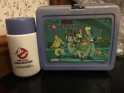Vintage Ghostbusters lunchbox with thermos The Real Ghostbusters 1980s Cartoon
