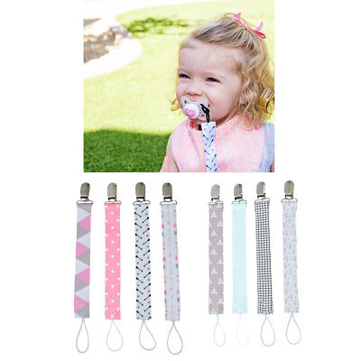 8Pcs Pacifier Soother Dummy Clip Holder String Strap Chain for Baby