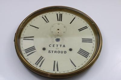 """12"""" OFFICE DIAL CLOCK BEZEL spun brass, includes dial pan and old dial"""