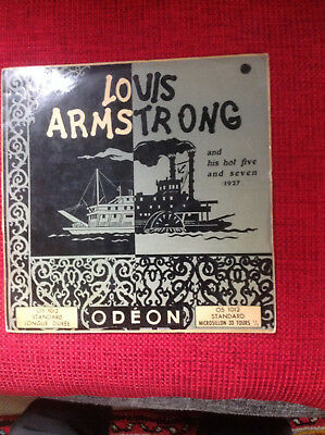 LOUIS ARMSTRONG and his hot five and seven (1927)  ODEON OS 1012  Made in France