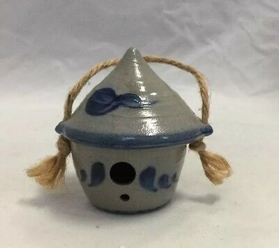 NEW Rowe Pottery Works 30th Anniversary Pottery Miniature Bird House LAST ONE!
