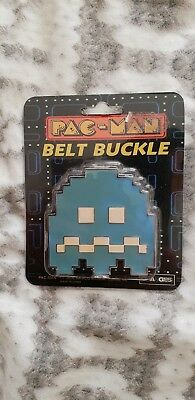 Pac-Man Blue Ghost Belt Buckle 2006. Namco Bandai Games Inc. Excellent Condition