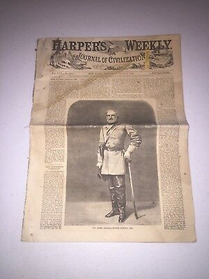 July 1864 Harper's Weekly Newspaper Robert E. Lee General Sherman's Campaign
